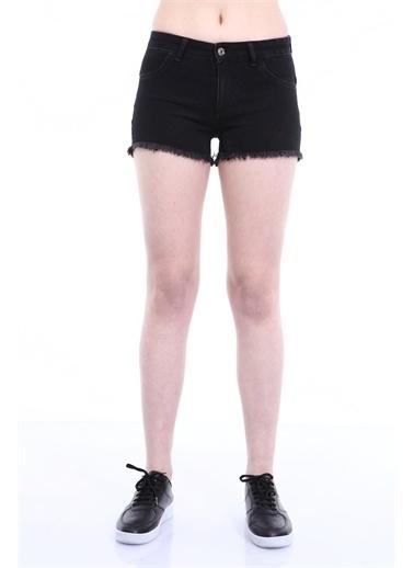 Rodi Jeans Kadın Püskül Paça Denim Şort TY19YB142168 Siyah